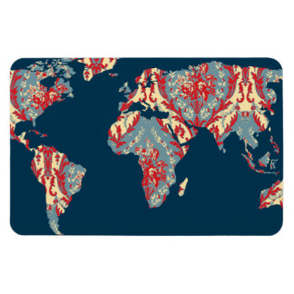 Modern Victorian World Map   World Traveler Magnet