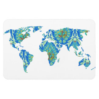 Modern Victorian World Map | World Traveler Magnet