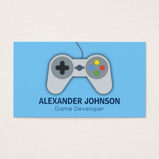Modern Video Game Developers, Designers, Animators Business Card