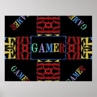 Modern Video Gamer Mosaic Poster