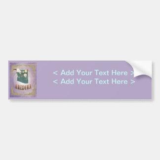 Modern Vintage Arizona State Map- Sweet Lavender Bumper Stickers