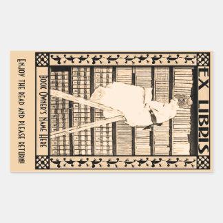 Modern Vintage Bookplate v1 Rectangular Stickers