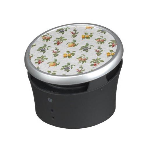 modern vintage botanical fruits speaker