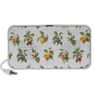 modern vintage botanical fruits iPhone speakers