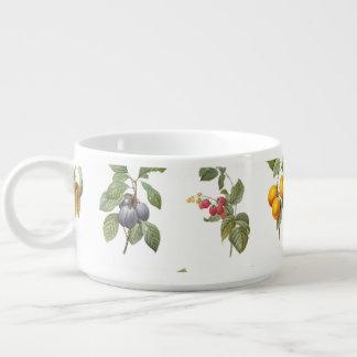 modern vintage botanical fruits chili bowl