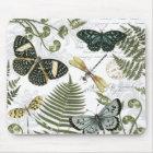 modern vintage butterflies and dragonflies mouse mat