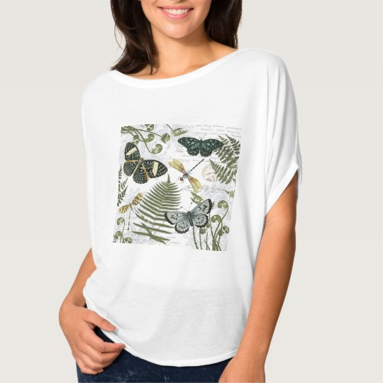 modern vintage butterflies and dragonflies T-Shirt