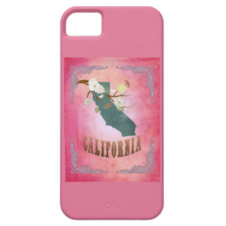 Modern Vintage California State Map- Candy Pink iPhone 5 Case