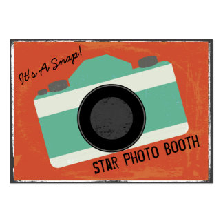 Modern Vintage Camera Photo Booth Photography Pack Of Chubby Business Cards