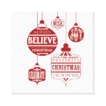modern vintage Christmas ornaments Stretched Canvas Prints