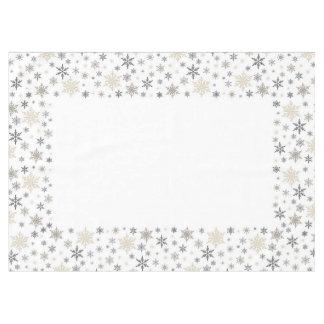 Modern vintage Christmas snowflake tablecloth