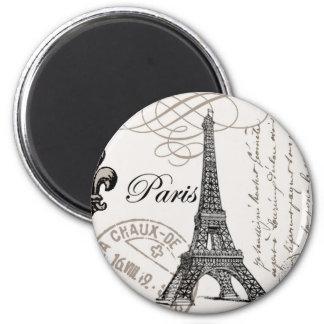 modern vintage Eiffel Tower 6 Cm Round Magnet