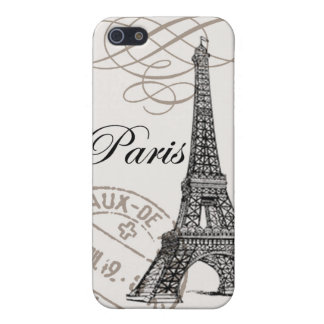 modern vintage Eiffel Tower Case For The iPhone 5
