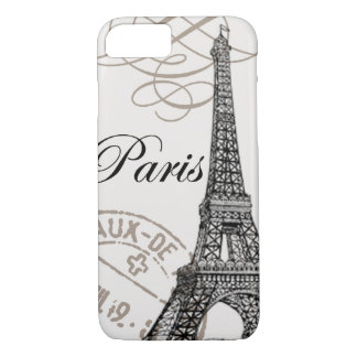 modern vintage Eiffel Tower iPhone 7 Case
