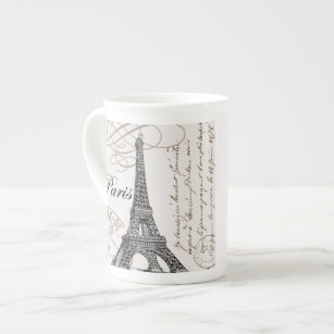 modern vintage Eiffel Tower Tea Cup