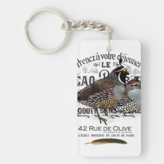 modern vintage fall quail key chains