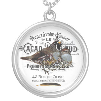 modern vintage fall quail custom jewelry