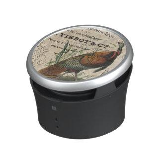 modern vintage fall wild turkey bluetooth speaker