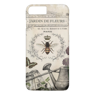 Modern Vintage French Bee garden iPhone 8 Plus/7 Plus Case