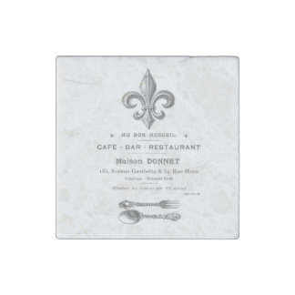 MODERN VINTAGE FRENCH BISTRO STONE MAGNET