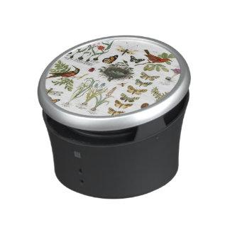 modern vintage french botanical birds and flowers speaker
