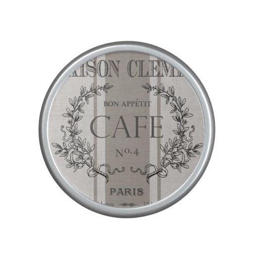 modern vintage french cafe speaker