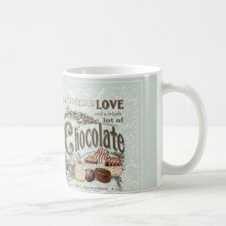 modern vintage french chocolates basic white mug