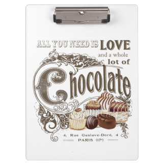 modern vintage french chocolates clipboard