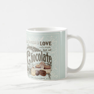modern vintage french chocolates coffee mug