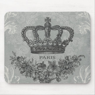 modern vintage french crown mouse mat