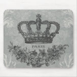 modern vintage french crown mouse pad
