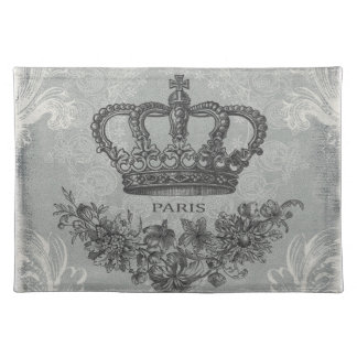 modern vintage french crown placemat