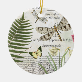 modern vintage french dragonfly christmas ornament