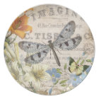 modern vintage french dragonfly plate