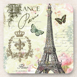 modern vintage french eiffel tower coasters