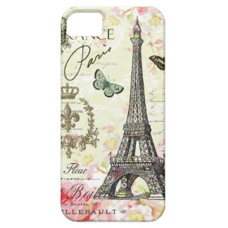 modern vintage french eiffel tower iPhone 5 cases