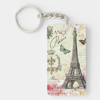 modern vintage french eiffel tower key ring