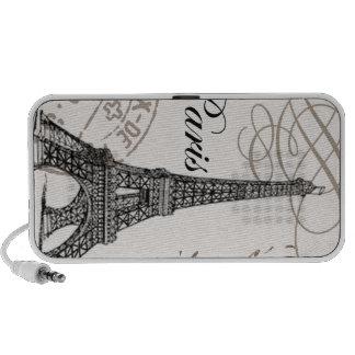 modern vintage french Eiffel Tower Travel Speaker