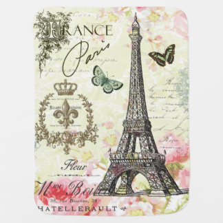 modern vintage french eiffel tower swaddle blankets