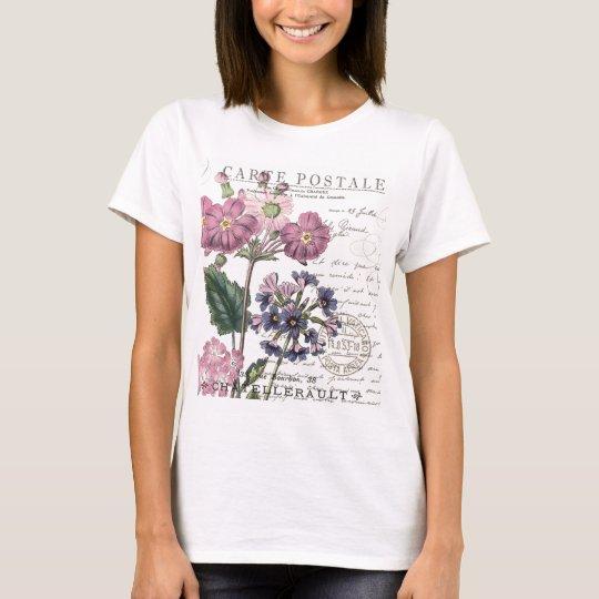 modern vintage french floral T-Shirt