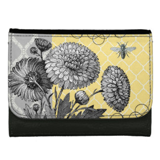 modern vintage french floral wallet