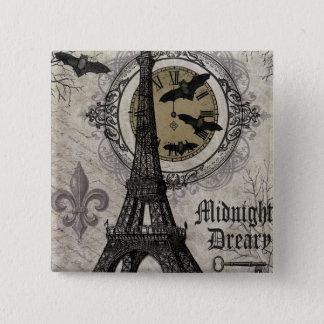 modern vintage french halloween Eiffel tower 15 Cm Square Badge