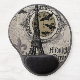 modern vintage french halloween Eiffel tower Gel Mouse Mats