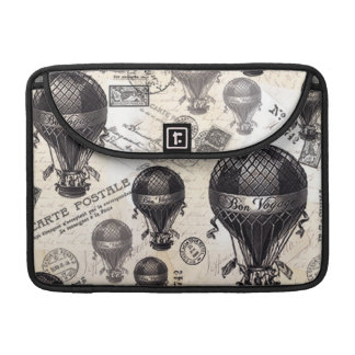 modern vintage French hot air balloons Sleeves For MacBook Pro