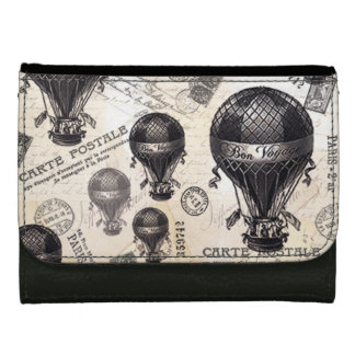 modern vintage French hot air balloons Wallet For Women
