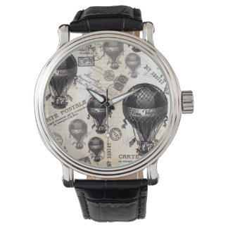 modern vintage French hot air balloons Watch