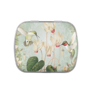 Modern Vintage French Hummingbirds Candy Tins
