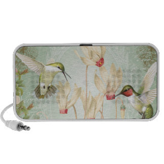 Modern Vintage French Hummingbirds Mini Speakers