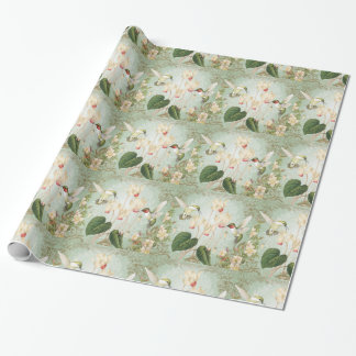 Modern Vintage French Hummingbirds Wrapping Paper