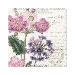 modern vintage french lavender floral canvas prints